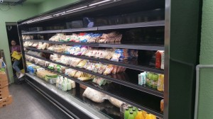 Super market open display fridge