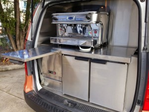 Coffee Machine - Rear Fridge with pull out draws