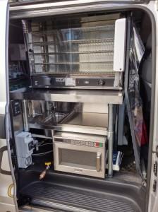 Coffee Van Sink - Microwave oven - Pie Oven