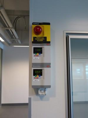 Carel Temperature controllers and man in room alarm