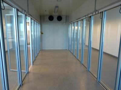 Cool Room 22 glass insert doors