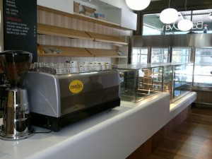 Coffee machine and Cake Display
