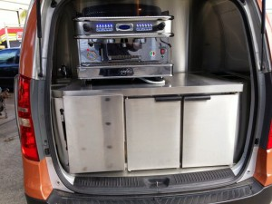 Coffee Machine - Rear Fridge with pull out draws 3
