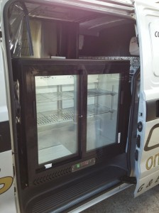 Coffee Van Side door fridge