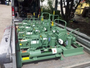 Load of Bitzer Consening units